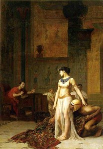 413px-Cleopatra_and_Caesar_by_Jean-Leon-Gerome
